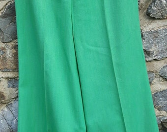 1960s Green Flared Trousers