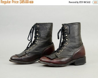 FEBRUARY SALE LAREDO Two-Tone Leather Boots Us 6