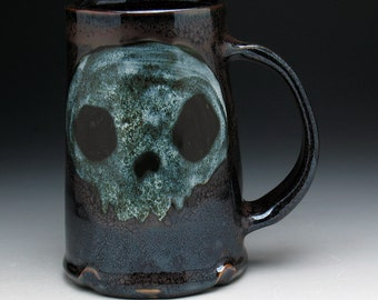 Skull Pint Mug, Ghost Skulls Beer Mug
