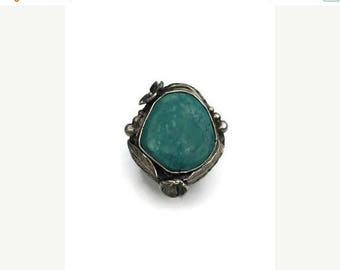 ON SALE Boho Turquoise ring, Real Turquoise ring, nature jewelry, gemstone ring, cocktail ring, bohemian ring