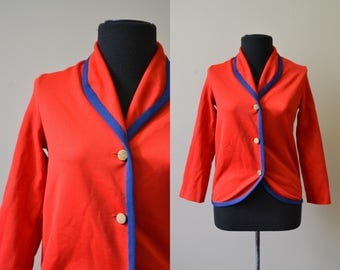 1960s Red and Blue Girl's Jacket