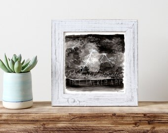 Stormy Nights Illustration- Giclee Fine Art Print - Pen and Ink Illustration - Storm Drawing - Artist Rachael Caringella