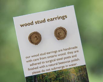 oak- little stud earrings