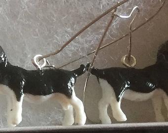 Comical realistic Goat Earrings