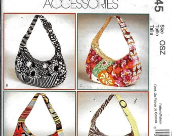 McCalls M6045 Fashion Accessories Pattern 6045 Four Options HOBO Bags ~ Kay Whitt Design