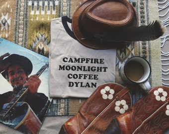 Campfire Moonlight Coffee Dylan Ringer Tee - Womens