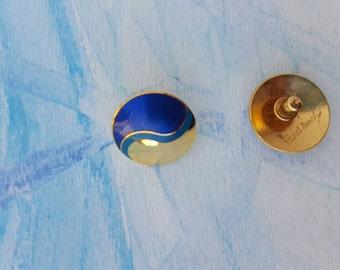Laurel Burch Earrings / Cloisonne Earrings / Vintage 80s Earrings / Whimsical Art  Earrings