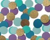 50 Mermaid Confetti, Circle Confetti, Under the Sea Party Decorations, Mermaid Circle Confetti, Nautical Confetti - No451