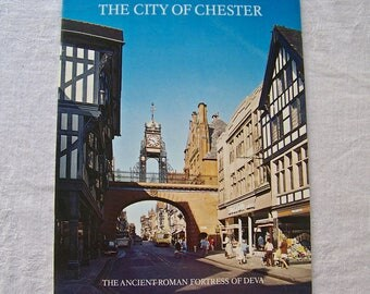 Vintage City Of Chester Souvenir Booklet Pitkin Pictorials England Travel Guide 1977