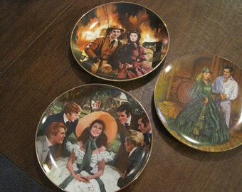 3 Gone with the Wind Collector Plates