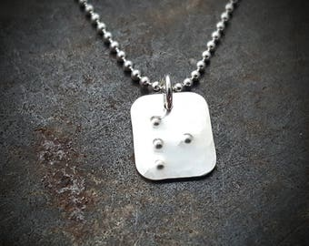 Braille Initial Necklace