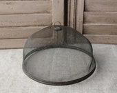 Vintage French screened meat - cheese - food dome