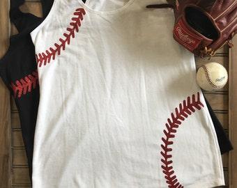 Baseball stiched Tank