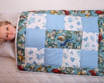 Eighteen inch doll quilt, pillow, pillowcase