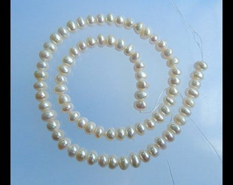 Natural  Pearl Necklace Beads , 7x6x4mm,22.3g,370mm(a0982)