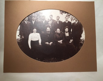 Vintage Photo with Oval Matte