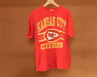 KANSAS city CHEIFS vintage nfl 90s y2k FOOTBALL red size large sports t-shirt