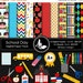 40% off School Day Paper Pack - 10 Digital papers - 16 Cliparts