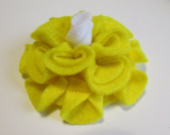 Add a Felt Flower with white center to any Sleep Mask or Neck Wrap- Yellow