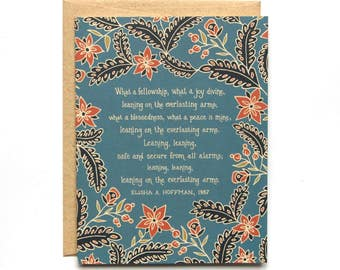 Leaning on the Everlasting Arms Hymn Greeting Card