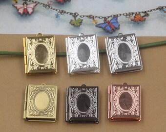 6pcs  Antiqued Bronze/Silver/Rose Gold/Gold/Gunmetal/White Gold  Metal Photo Locket Charm Pendant