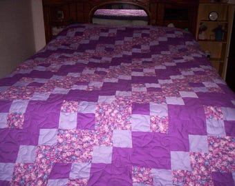 Light & Shadows'  pieced quilt....REDUCED  PRICE......