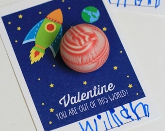 DIY, Space Valentine Day tag