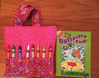 Coloring Book & Crayon Bag