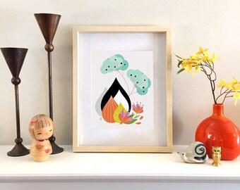 Ikebana Study I - Fine Art Print 8x10