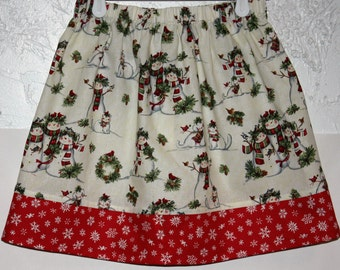 Snowman Skirt  Size 2 to 8