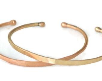 Forged 18k Gold Cuff - Thin, Modern, Everyday