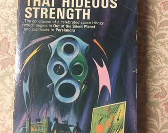 Vintage Paperback Book - C. S. Lewis - That Hideous Strength - C. S. Lewis - 1977 - Vintage Science Fiction Book - Old C. S. Lewis Book