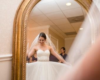 "Rhinestone Sash, Cystal Wedding Belt, Crystal Bridal Sash Sash, 18.5"" of Rhinestones - Brielle"