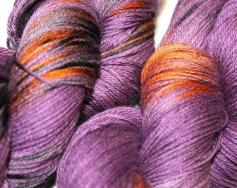 Shine Merino Silk 4 ply yarn - hand dyed