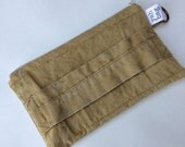 HOLIDAY BLOWOUT HANDLE - reconstructed vintage duffle bag small pouch