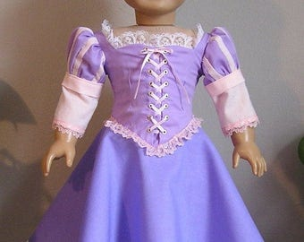 Rapunzel Dress for American Girl or 18 Inch Doll