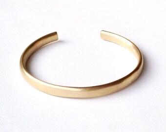 Simple Gold Cuff Bracelet - Open Oval Wire Cuff - Open Chunky Silver Cuff Bangle for men women - luxury gold cuff bracelet unisex gift