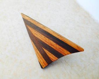 Vintage Brooch, Wooden Brooch, Shawl Pin, Vintage Wooden Brooch