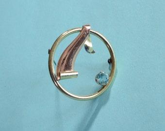 Vintage 1940s Kreisler Brooch Something Blue Bridal Fashions