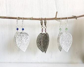 Leaf Dangle Earrings.