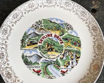 Vintage Skyline Drive Plate/ Shenandoah National Park