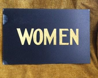 We Are Women Hear Us Roar Vintage Women Paper Sign