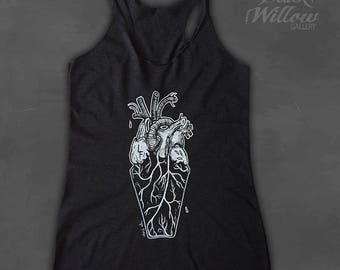 Coffin Heart Tank Top by Lupe Flores