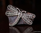 Hand Carved Stamp, Indian Wood Stamp, Textile Stamp Block- Dragonfly