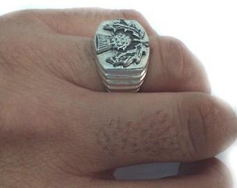 Thistle Ring, Scottish Thistle Ring, Silver Thistle Ring, Thistle Jewelry, Scottish Jewelry, Scottish Emblem