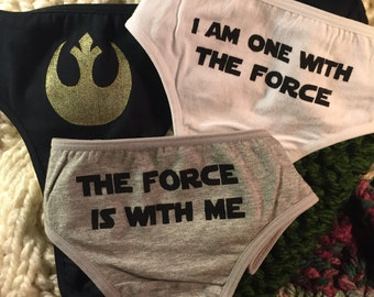 I am One with the Force Triple Panty Set