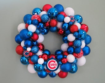 WORLD Series Champions CHICAGO CUBS Team Baseball Ornament Wreath