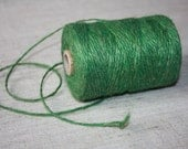 2 mm Green Jute Cord - Natural Jute - yards from spool
