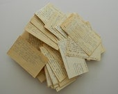 Old Handwritten Recipe Cards. 140 total. Vintage collection.