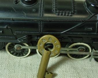 Antique/Vintage Railroad Key Brass Hollow Barrel Chicago Milwaukee & St.Paul Railroad 1920's